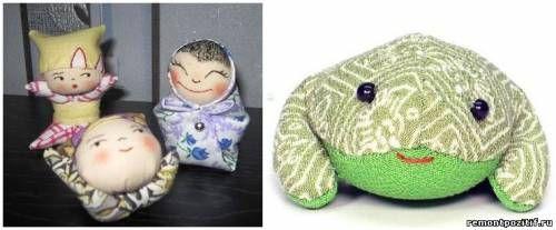 Японские игрушки теримэн – шедевры из лоскутков