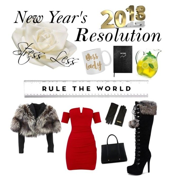 #PolyPresents: New Year's Resolutions by jessann-harrold on Polyvore featuring polyvore fashion style Lolita Lempicka La Perla Moschino Allstate Floral Sloane Stationery DENY Designs Luigi Bormioli clothing contestentry polyPresents