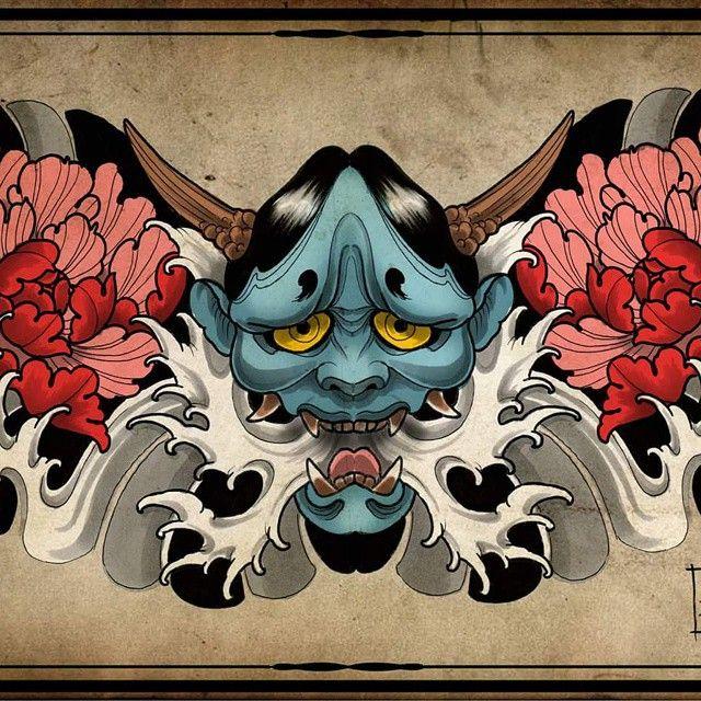 #tattoodesign #traditionaljapanesetattoo #japanesetattoo #hannya #hannyamask #hannyatattoo #melbournetattoo #amsterdamtattoo