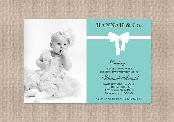 Tiffany Blue Birthday Party Invitation Inspired by by Honeyprint – Tiffany Blue Birthday Invitations