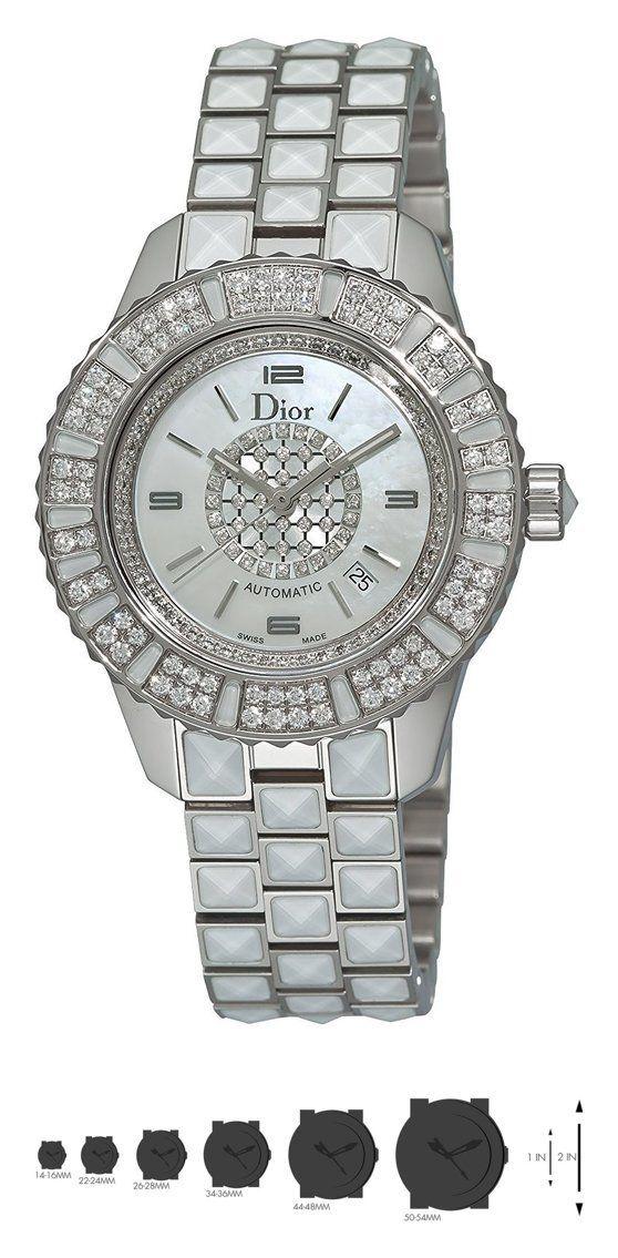 Christian Dior Women's CD113512M001 Christal White Diamond Dial Watch #watch #christiandior #wrist_watches #watches #women #departments #shops