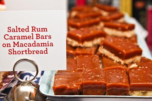 Salted Rum Caramel Bars with Macadamia Shortbread   Recipe
