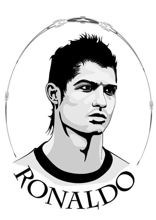 ronaldo ronaldo gratis kleurplaten