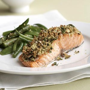 Almond Herbed Salmon