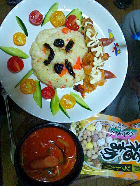 トマトクリームスープの残りは次の日ドリアになって再び食卓に登場させちゃってます。 - 12件のもぐもぐ - 小鬼の唐揚げポテトサラダ&トマトクリームスープ by noraemon