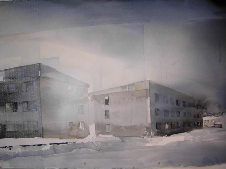 Lars Lerin, watercolor