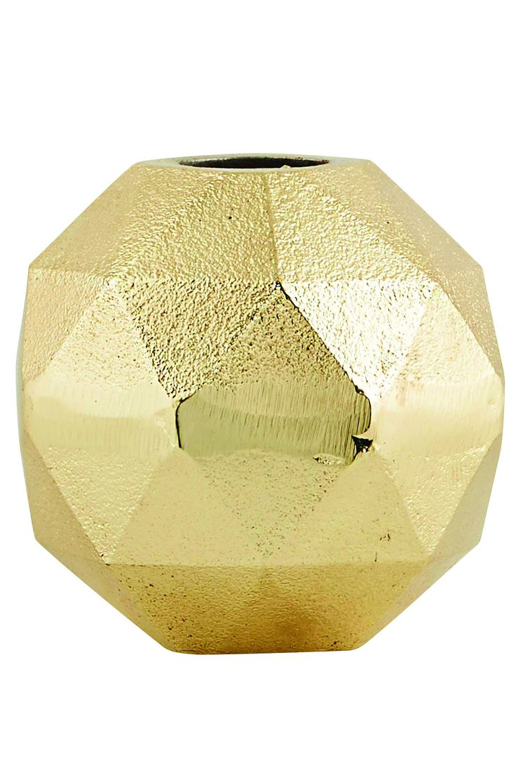 GOLD/BRASS GEOMETRY VASE – THE HOUSE JAR