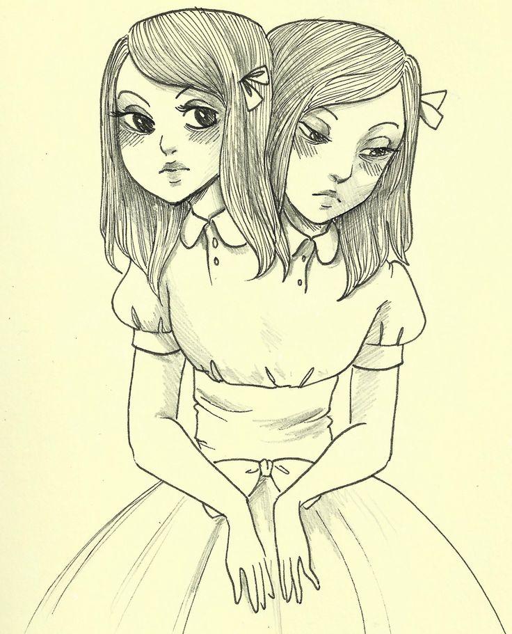 Картинки лучших подруг нарисованные карандашом