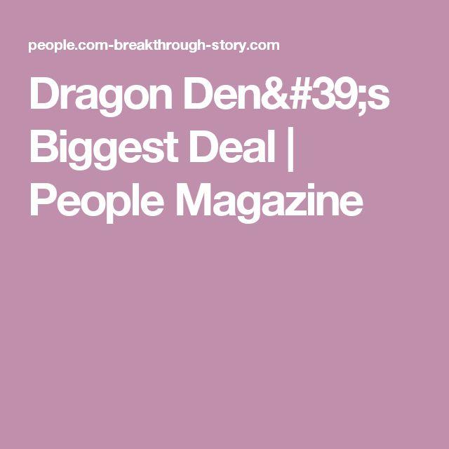 Dragon Den's Biggest Deal   People Magazine