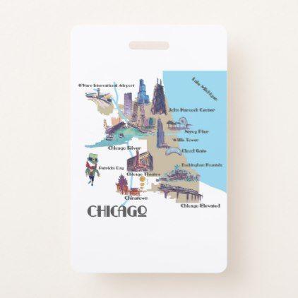 Chicago Georgia Highlights map bag Badge - personalize design idea new special custom diy or cyo