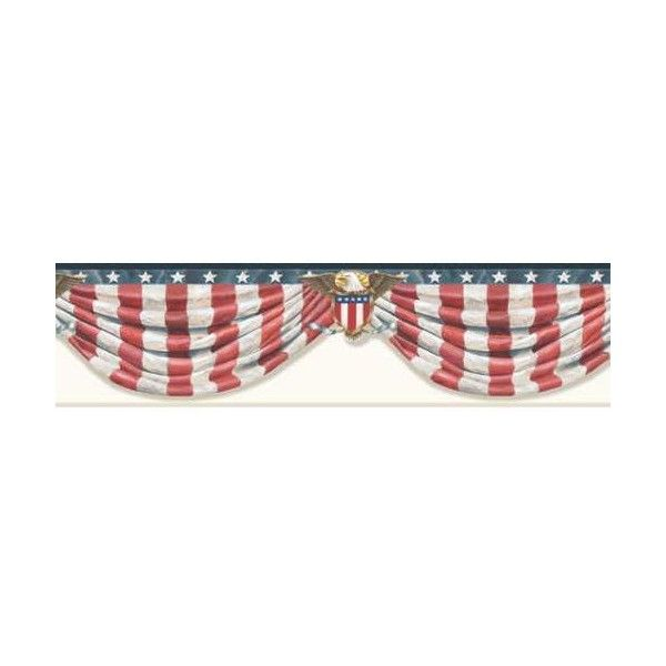 Brewster CTR63171B Lorna White Stars & Stripes Forever Border ($36) ❤ liked on Polyvore featuring home, home decor, wallpaper, borders, white stars and stripes, white wallpaper, us flag wallpaper, white home accessories, american flag wallpaper and usa flag wallpaper