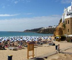Albufeira - Algarve - Portugal;  Albufeira Beach on a sunny September day