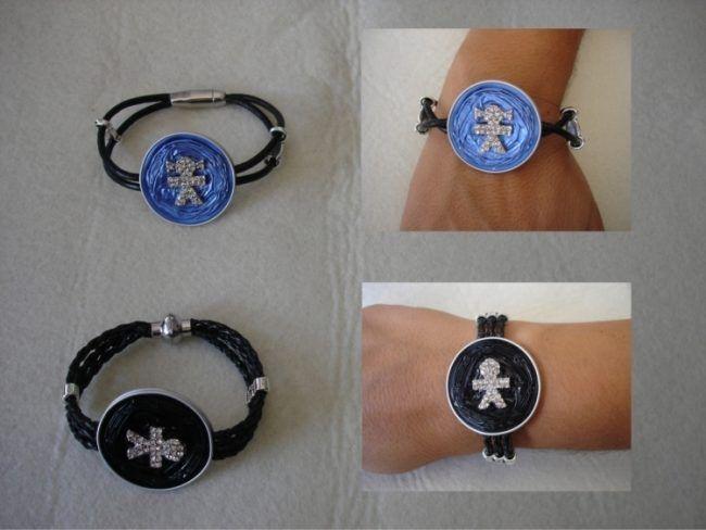 kaffee-kapseln-nespresso-schmuck-armband-maennchen-blau-schwarz