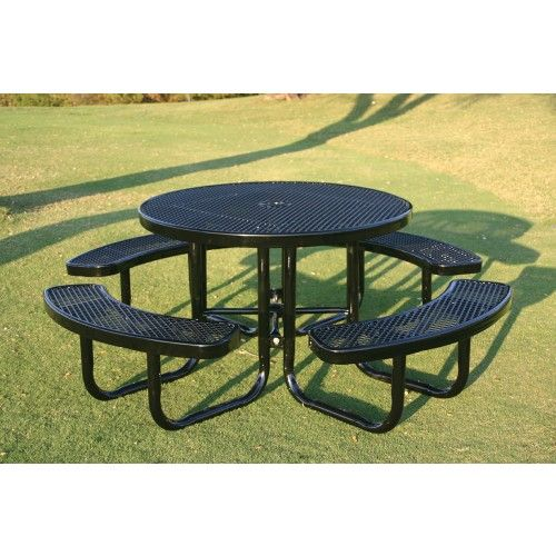 "46"" Children's Round Portable Picnic Table - Kids Picnic Tables - Picnic Tables…"