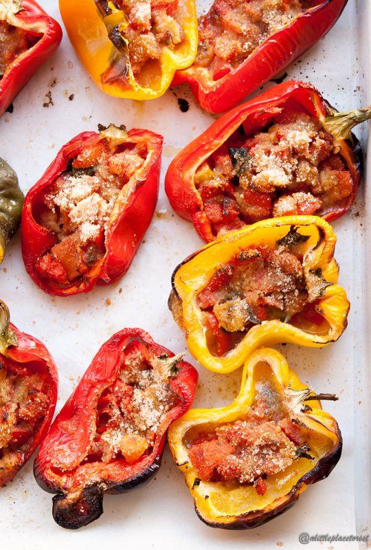 Peperoni ripieni al forno - Stuffed peppers
