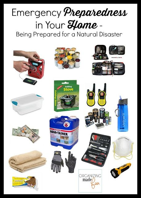 Emergency preparedness in your HOME supplies :: OrganizingMadeFun.com