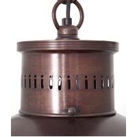 Madison Ceiling Lamp in Antique Copper - Detailing    Height: 430mm, Width: 480mm