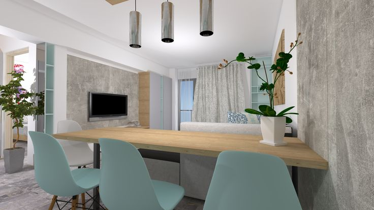 Living and dinning design