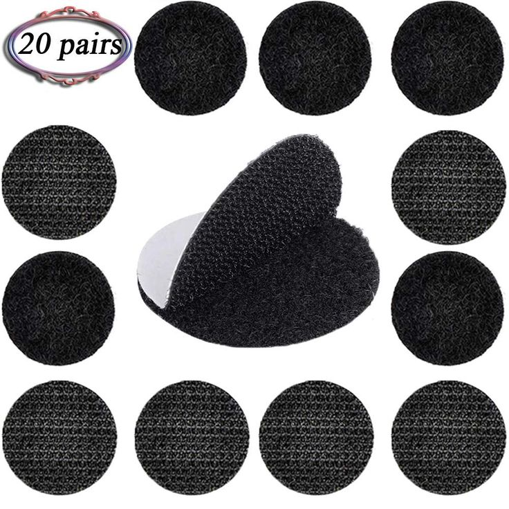 20 pairs self adhesive hook loop dots super sticky heavy