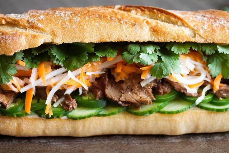 Lemongrass Steak Banh Mi Sandwich