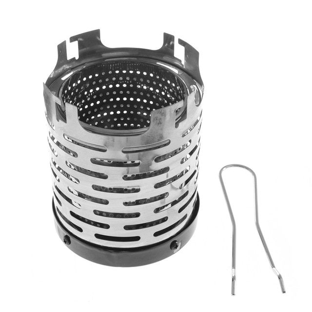 Fdit Mini Stove Heating Cover Stainless Steel Camping Mini Heater Portable Warming Heater Shield for Outdoor Backpacking Hiking