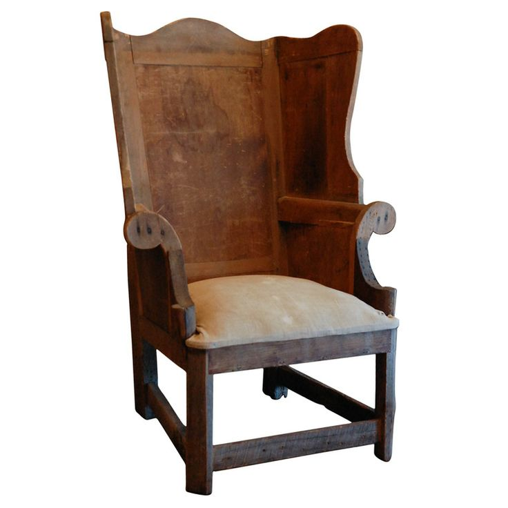 Early American 'Make-Do' Wingback ... - 174 Best Early American Furniture. Images On Pinterest Woodwork