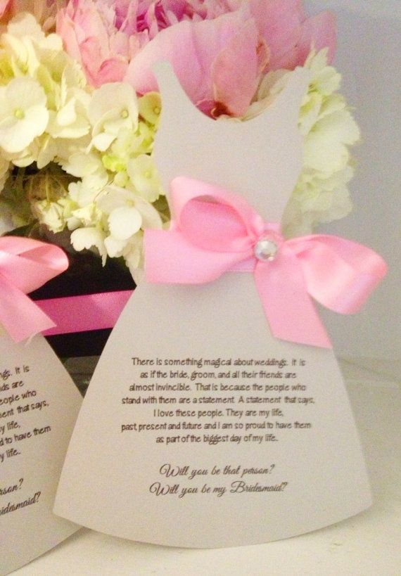 19 best Bridesmaid Invitations images on Pinterest Bridesmaid