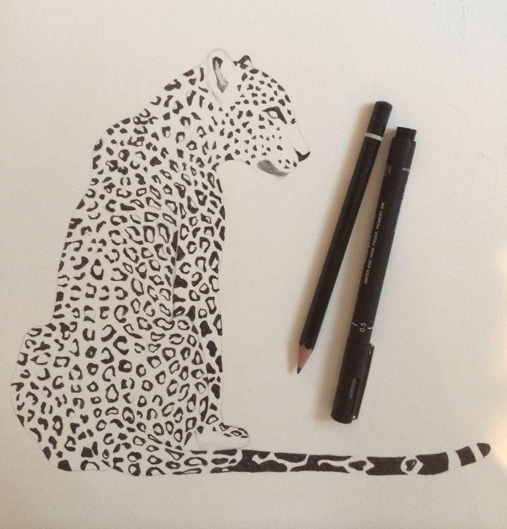 Leopard im Begriff, gemalt zu werden