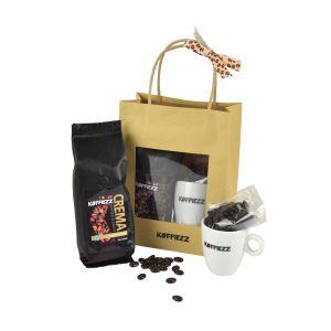 Iedereen is blij om deze geschenken te ontvangen! Bijvoorbeeld uw relatie, uw personeel of uw familie. Bekijk onze vaste collectie Koffiezz gifts!