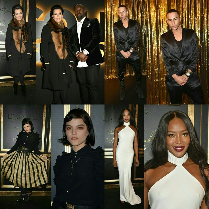 @krisjenner (with boyfriend @coreygamble), @olivier_rousteing, Soko and @iamnaomicampbell attended the #Loreal party last night in Paris. #PFW • • • • • • • • • • • • • • • • • • • • • • • • • • • • •  #KrisJenner (com o namorado #CoreyGamble), #OlivierRousteing, #Soko e #NaomiCampbell foram à festa da #Loreal ontem à noite em Paris. #PFW
