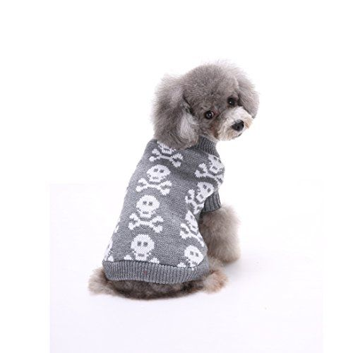 "Bonawen Dog Sweater with Skeleton Pattern  16"" Back Length"