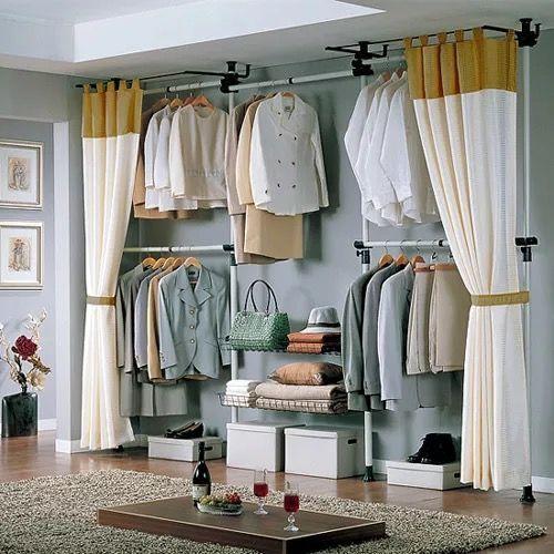 гардеробная комната с занавеской фото эффект процедуры