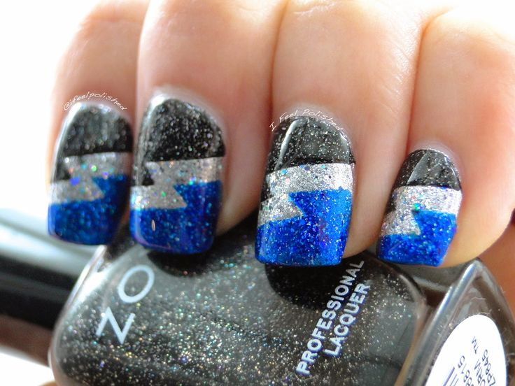 I Feel Polished!: Lightning Nail Art