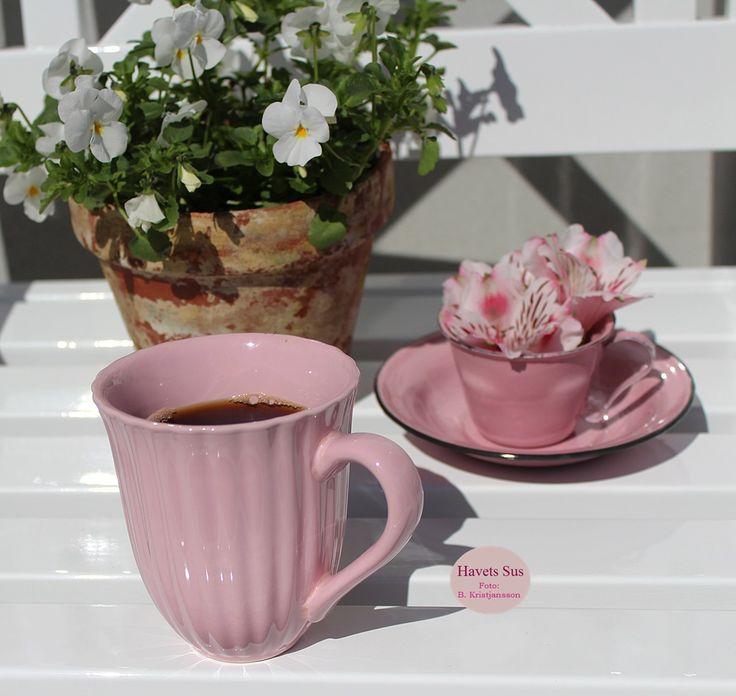 Ib Laursen, emalje, enamel, mynte, coffee, flowers, my garden, Havets Sus, Denmark