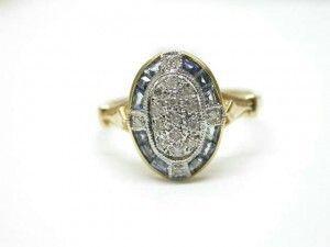 Shiny Pretty Things   Kay's Jewelers - Sapphire and Diamond Ring -MJ14808