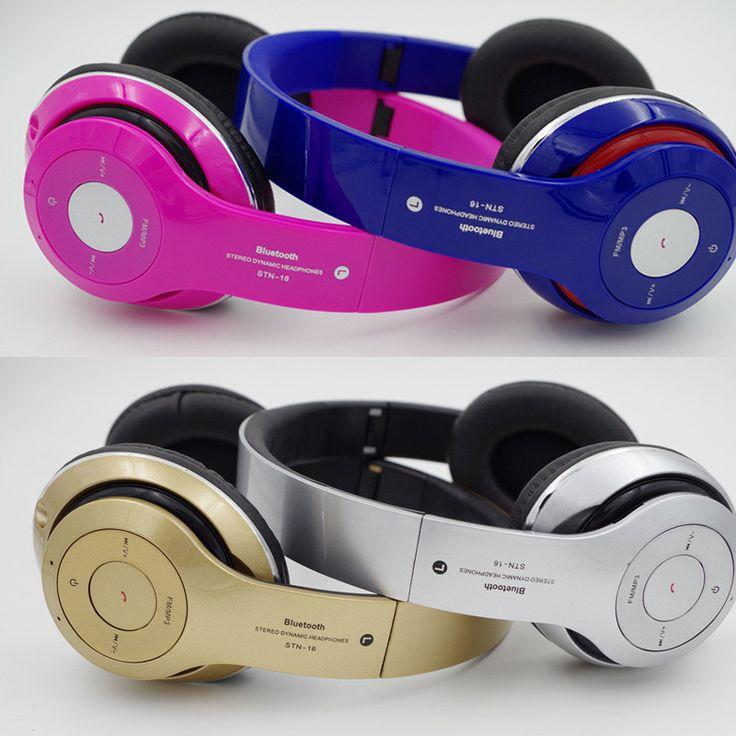 High Surround Sound Headphones Wireless Stereo Headsets Bluetooth3.0+EDR Headphone Headset With Mic FM radio