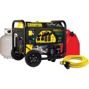 Champion 7000W Running / 9000W Peak DUAL FUEL Generator w/Electric Start