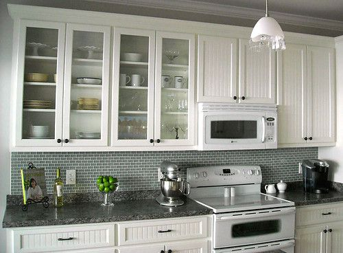 Sea green small subway tile backsplash  Kitchens  Pinterest