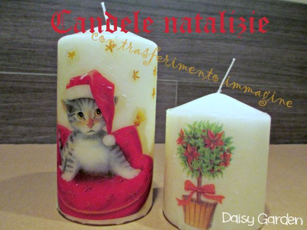 Daisy Garden: Candele natalizie decorate