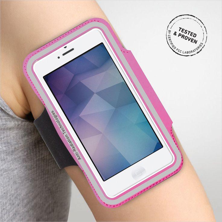 "Vest Radiation Protection Armband Case Cover Holder up to 5"" Running Jogging Gym"