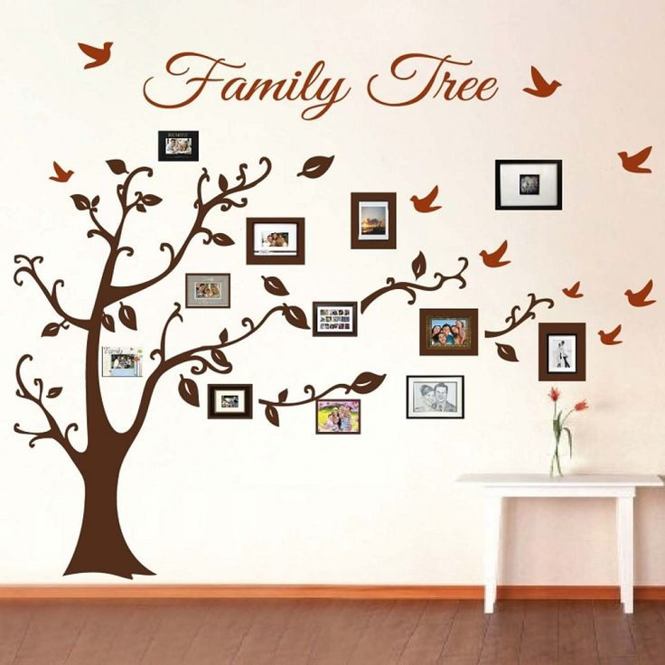 Family Tree Picture Frame Wall Art With Detailed Branches For The Vintage Touch…