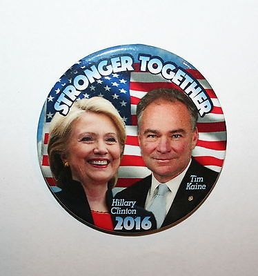 Hillary Clinton: 2016 Hillary Clinton President Campaign Button Political Pinback Pin -> BUY IT NOW ONLY: $1.99 on eBay!