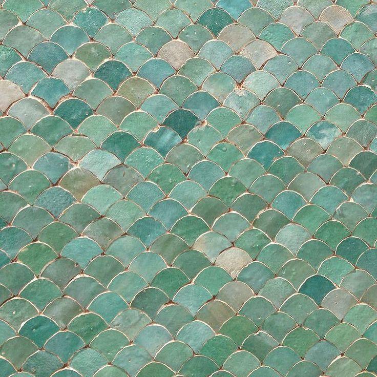 Fish scale inspired Moroccan tile.  #interiordesign #inspiration #moroccan…