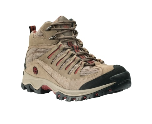 Men's TrailWind Mid Hiker - Timberland.  These are the hiking boots Lance has.  Timberland outlet has them for $69.99