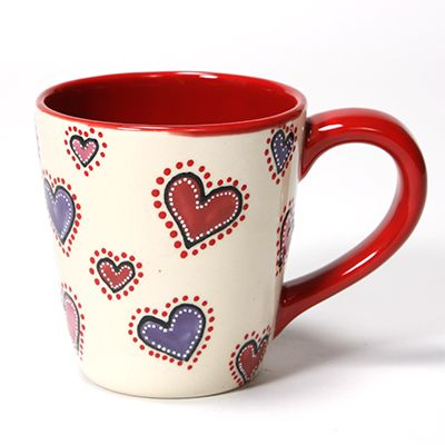 Heart Mug with Mayco Reds!