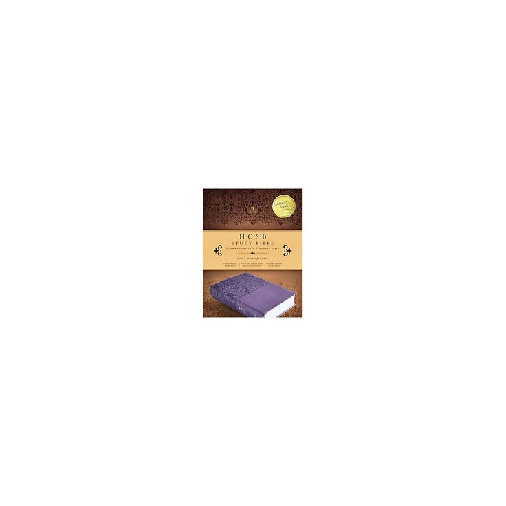 Study Bible : Holman Christian Standard Bible, Purple, Leathertouch (Indexed) (Paperback)
