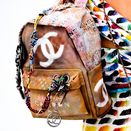 Chanel's Canvas Bricolage Backpack, Inspired by Broke Art Students, Costs $3,400