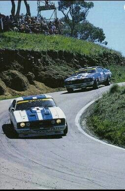 Down the mountain. Allan Moffat and Dick Johnson