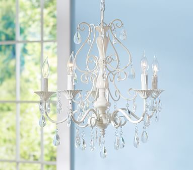 Clear Alyssa Chandelier #pbkids, main room chandelier