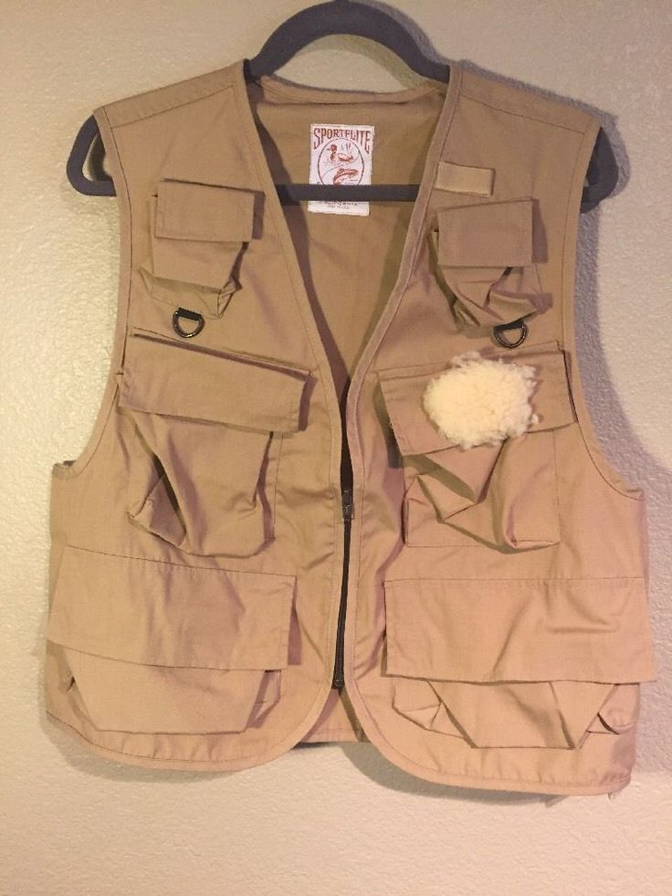 SPORTFLITE SPORTSWEAR CALIFORNIA MADE in the USA fishing vest one size fits most adjustable Velcro at sides to adjust Sz . Front zipper all the bells & whistles w/ pockets & such like new condition | eBay!